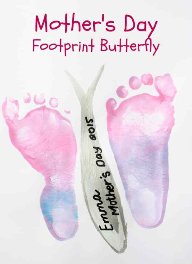 Mothers Day Footprint Butterfly. This is a wonderful keepsake
