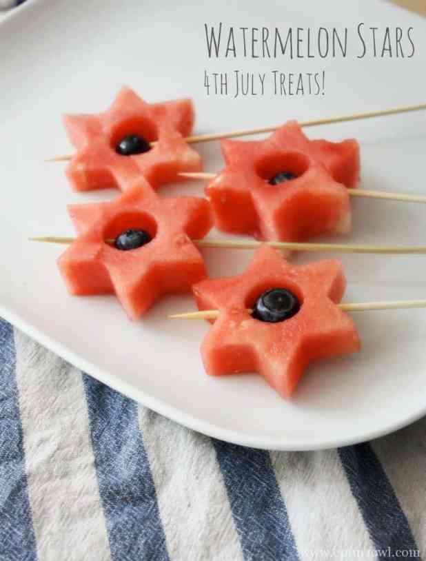 Watermelon Stars. 4th July Treats