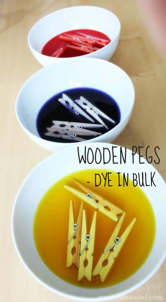 Wooden Clothing Pegs - Dye in Bulk