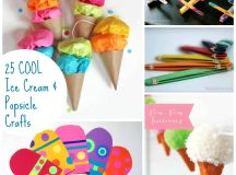 25 COOL Summer Popsicle and Ice Cream Crafts - Emma Owl
