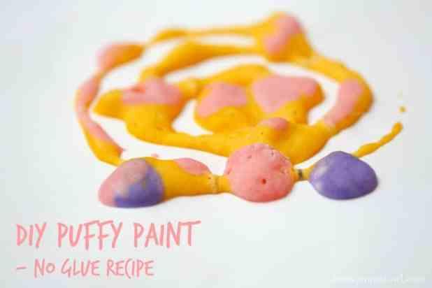 DIY PUFFY Paint. No Glue Recipe