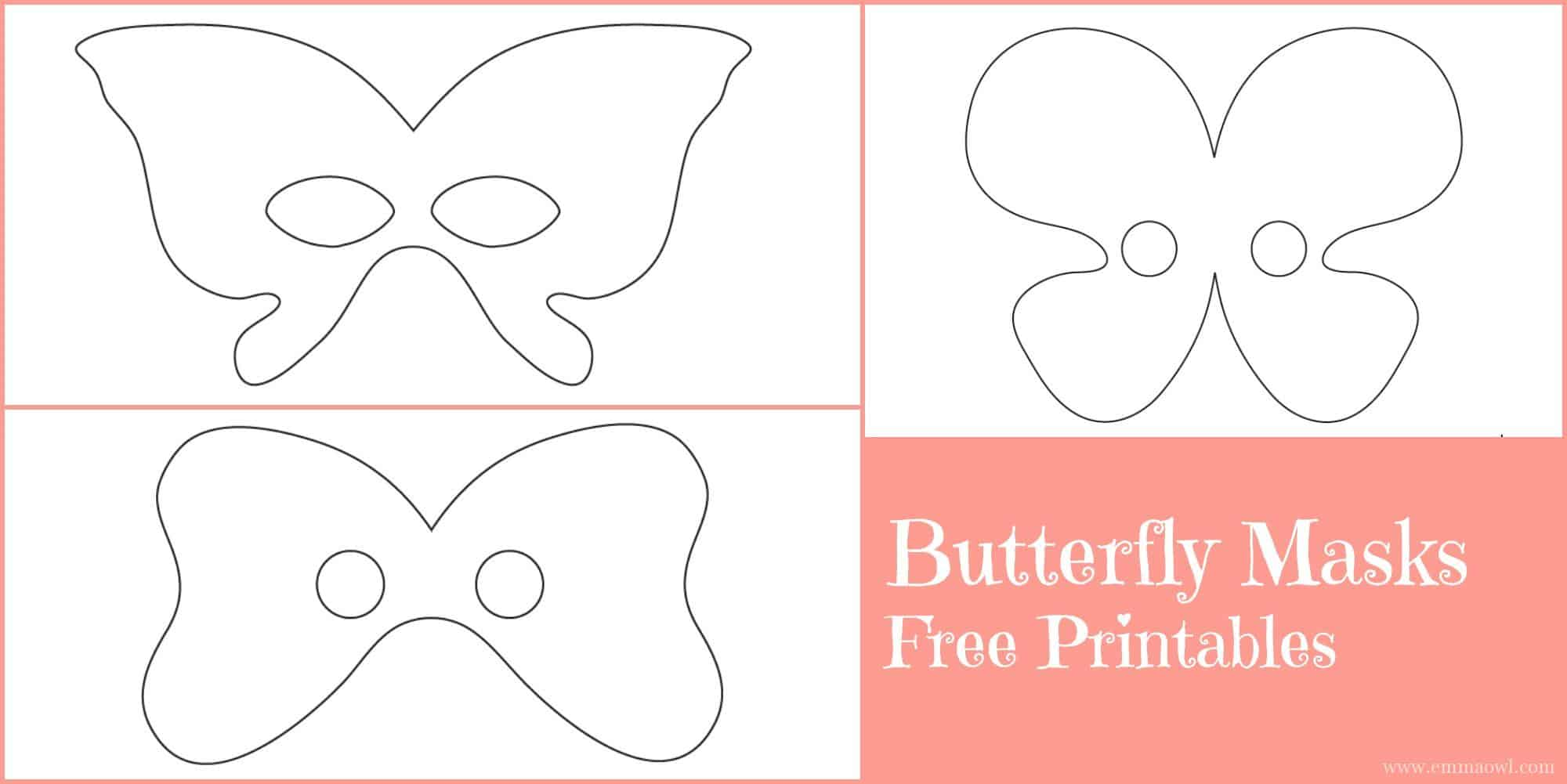 picture about Free Printable Masks known as Butterfly Masks - Free of charge Printables - Emma Owl