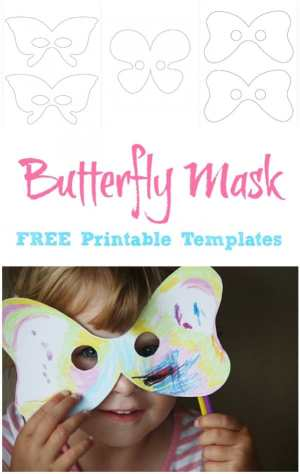 Here are FREE Butterfly Mask Printable Templates - Print, Design and Use!