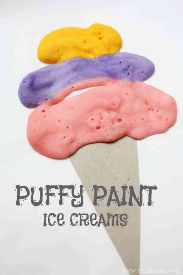 Puffy Paint Ice Cream Art