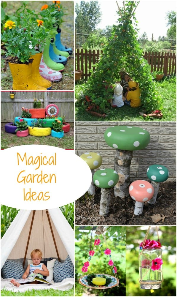Turn your Garden into a Magical Play Space for children with these great ideas.