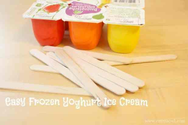 easy frozen yoghurt ice cream
