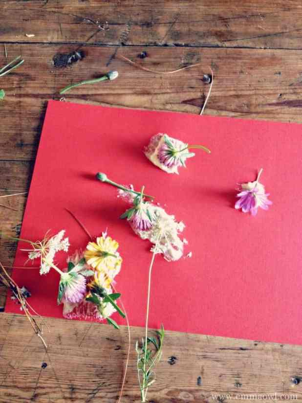 flower art. a great indoor and outdoor activity