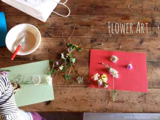 flowers and glue makes the perfect flower art