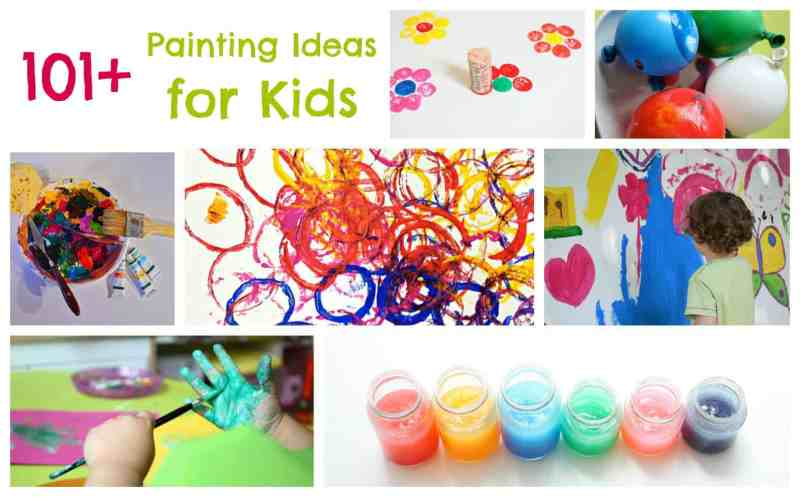101 Painting Ideas for Children. If there is paint involved it is here!