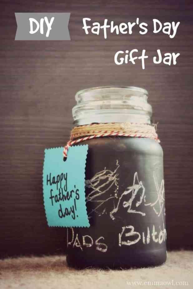 DIY Fathers day gift jar