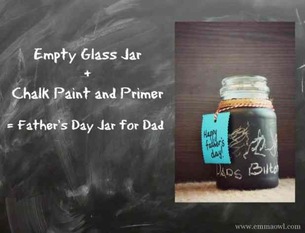 Fathers day diy chalk paint gift jar