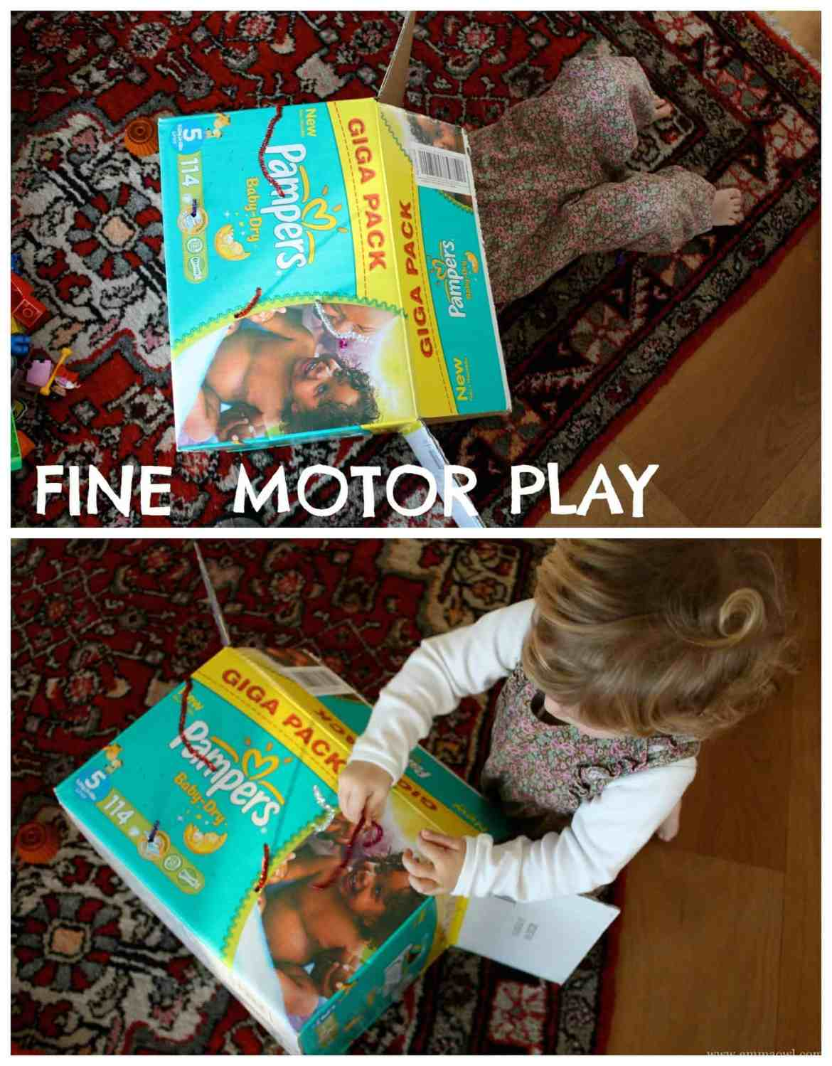Fine Motor Play with Pipe Cleaners and a Box