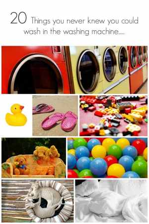 20 Things you never knew you could wash in the washing machine.