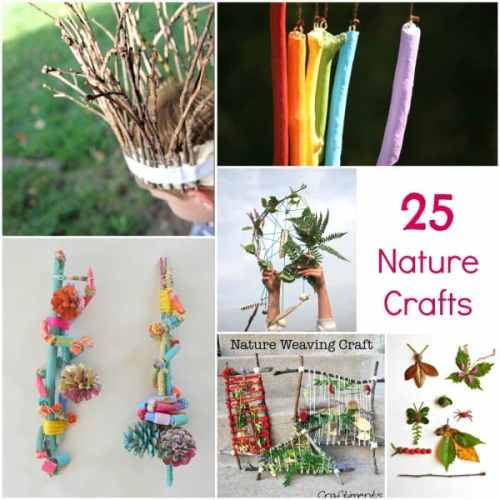 25 Nature Inspired Crafts. Perfect for any summer camp and camping trip