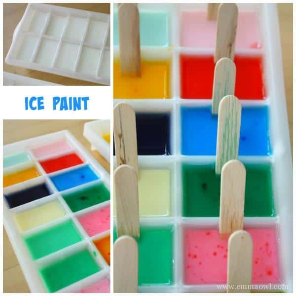 Make your Own Paintsicles - Ice Paint