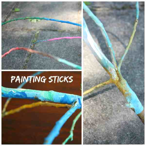 Perfect Summer Camp Craft - Painting Sticks