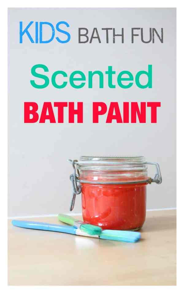 Amazing scented bath paint for children to play with in the bath - and smells great! Easy to make - no tear solution!