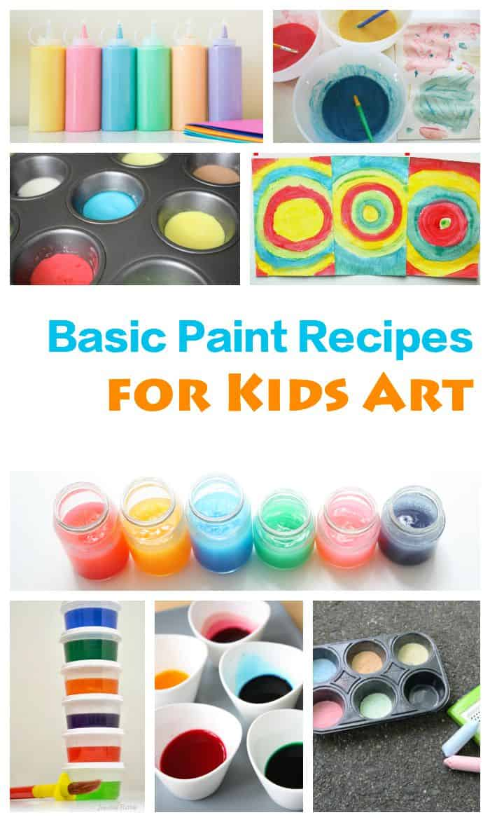 Here are all the paint recipes that you need for kids art projects