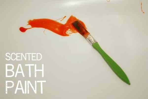 Scented Kids Bath Paint - full recipe here