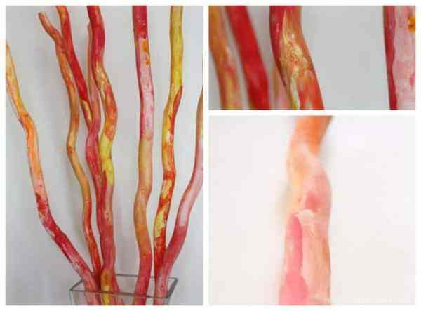Great Childrens Painting Activity and Home Decor Idea - Autumn Fall Sticks