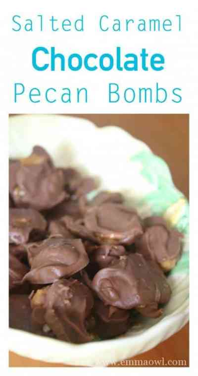 Looking for easy to make chocolate bites that are absolutely moorish These Salted Caramel Chocolate Pecan Bombs will do the trick! BEST chocolate bite EVER!