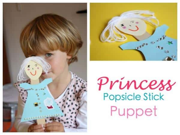 Princess Popsicle stick puppet - great little craft idea