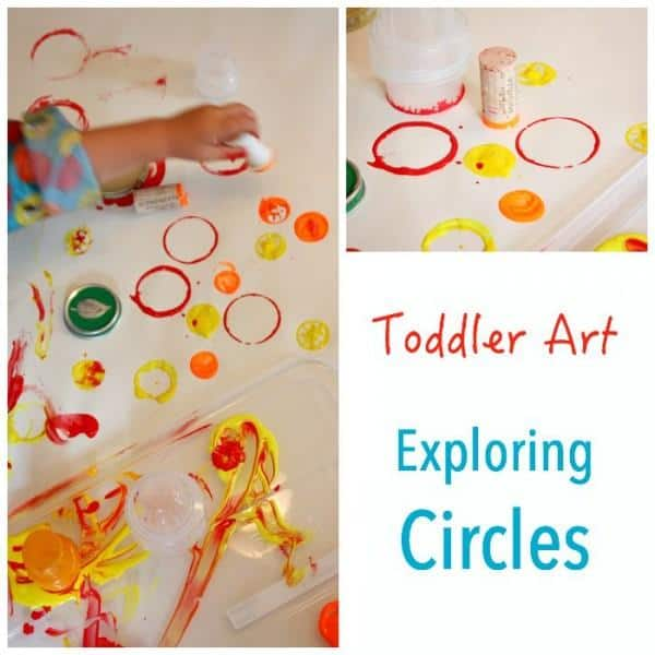 Toddler Art - exploring circles