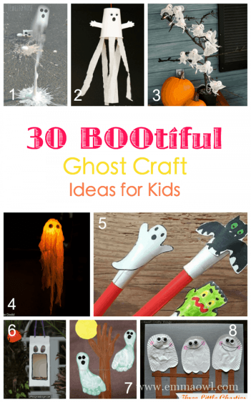 30 BOOTIFUL Ghosts Crafts that Children can make!