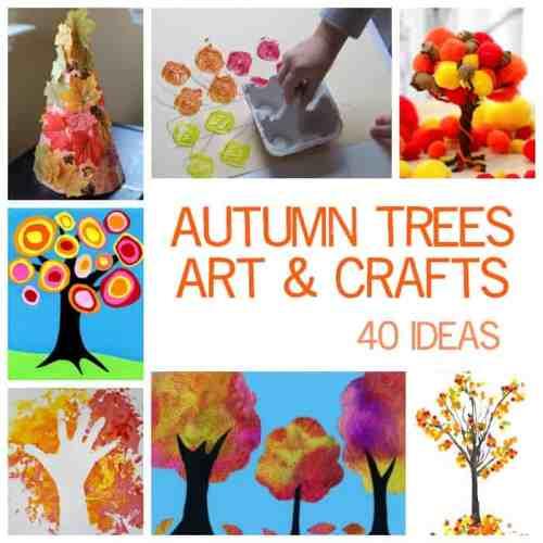 40 Kids Fall Tree Art and Craft Ideas