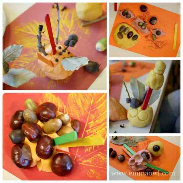 Children Artwork at our Fall Sensory Table