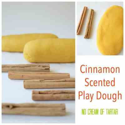 Easy to make - this NO cream of tartar included - Cinnamon Scented Play Dough will be a real winner! People actually want to eat it!