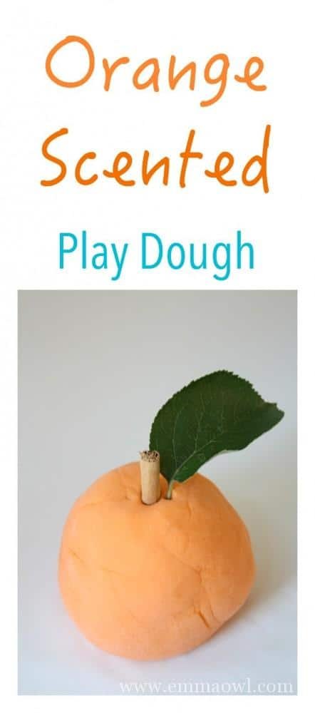 LASTS FOR MONTHS - this Orange Scented Play Dough is so easy to make and is such a fun interesting sensory play activity for Children! We LOVE it!