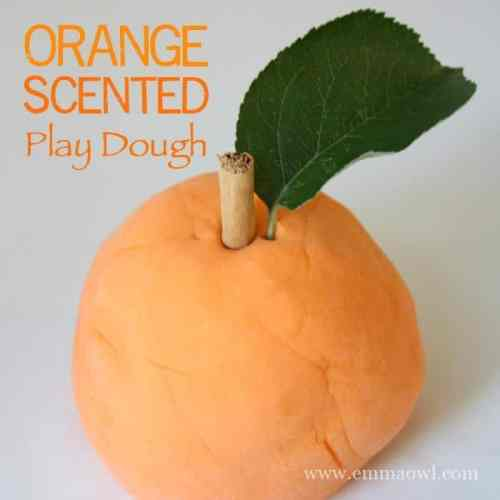 LASTS FOR MONTHS - this Orange Scented Play Dough is so easy to make and is such a fun interesting sensory play activity for Children!