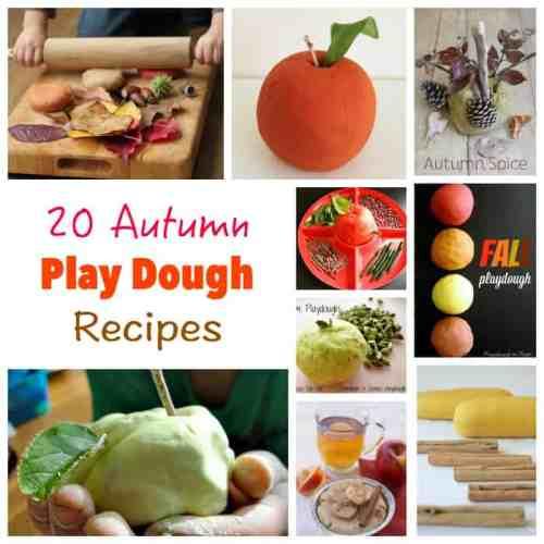 20 Autumn Play Dough Recipes