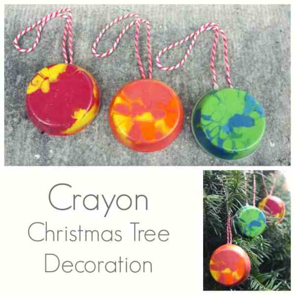 Crayon Christmas Tree Decorations - Easy DiY Christmas Craft and Ornament and Gift in one!
