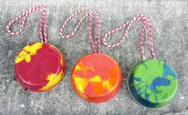 Crayon Christmas Tree Ornaments