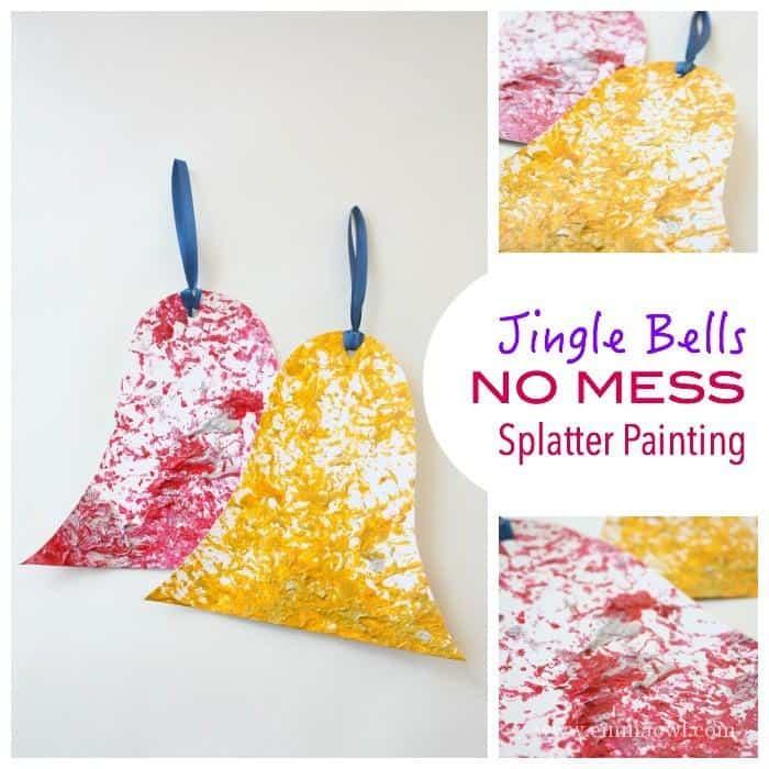 Jingle Bells - no Mess - Splatter Painting
