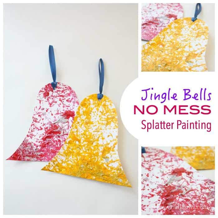 Jingle Bells - no Mess - Splatter Painting
