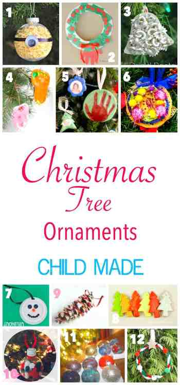 More than 26 Child Made Christmas Ornaments to hang on the tree this Christmas
