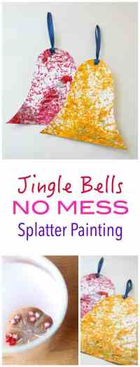 This is the most fun you are going to have making Christmas Decorations!! This is NO MESS - fun - and creates the most beautiful spatter designs. Great Kids Craft Project