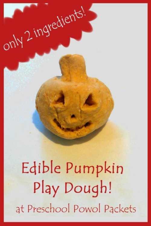 edible pumpkin play dough 3