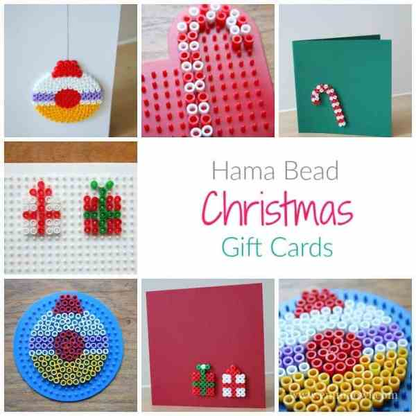 Hama Bead Christmas Gift Cards