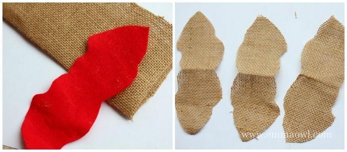 How to make a burlap poinsettia