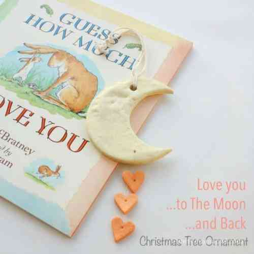 Love you to The Moon and Back - Christmas Tree Ornament