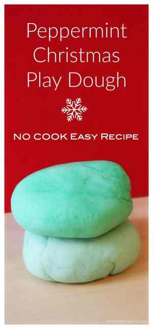 The ideal Sensory Play Dough for Christmas Time - Peppermint Scented No Cook - Easy to Make!
