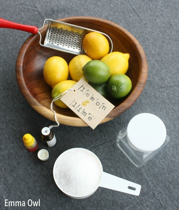 Ingredients and Materials for Child Made Bath Salts