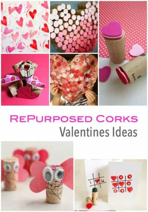 Repurposed Cork Ideas for Valentines Day Craft Projects