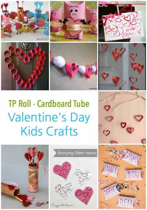 Some great ideas here to repurpose all those tp rolls into fantastic valentines day craft projects for Kids