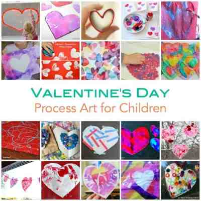 Valentines Day Process Art for Children