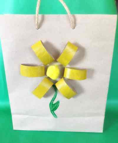 cardboard roll flower